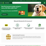 Bonus $50 WISH eGift Card with New Pet Insurance Policy @ Woolworths Pet Insurance