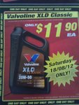 Valvoline XLD Classic $11.90 at SuperCheapAuto 18/08/12 Only