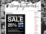 Australia Day Sale - 25% Off at Hung By Thread
