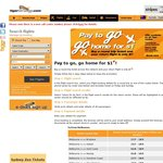 Tiger Airways - Buy a Round Trip Ticket and Your Return Flight is Only $1.00
