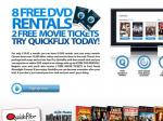 30 Day Quickflix Trial - 8 Free DVD Rentals and 2 Free Movie Tickets to Moonlight Cinema