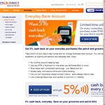 """ING Orange Everyday - 5% Cashback on """"Contactless"""" Purchases < $100 for 6 Months - New Customers"""