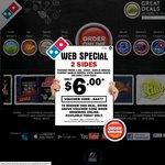 Domino's 3 Pizzas + 1.25l Coke + Garlic Bread $25.95 Delivered
