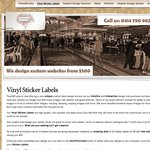 Launch Promo: 34 Custom Vinyl Sticker Labels for $5 with Free Delivery. Fun and Customizable
