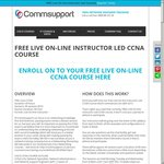 Free Live On-line Instructor Led CCNA Course