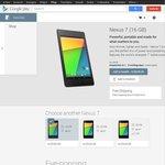 Nexus 7 (2013) 16GB Wifi $299 + Free Shipping on Google Play