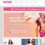 Kayser Lingerie - 30% off store wide + Free shipping