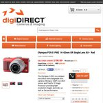 Olympus PEN E-PM2 + 14-42mm Lens Kit - Red $196 (after Cashback) from digiDIRECT