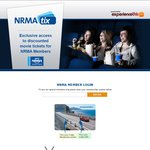 Discounted Movie Tickets with NRMA Tix (Membership No. Required) - Adult $10.50, Child/Senior $8