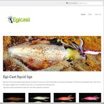 Egi-Cast Finest Quality Squid Jigs: Buy 2 and Get 1 Free Orange or Pink 2.5 UV Jig Free $21.98 Shipped