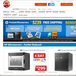 WD 4TB RED $225/HP ProLiant Microserver G8 $299 and N54L $239 + Delivery from Shopping Express