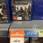 Assassins Creed Syndicate PS4 & XBOX ONE $68 (Was $89) @ Big W