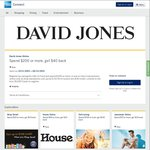AmEx Online Offers: David Jones Spend $200 Get $40, Jeanswest Spend $75 Get $20