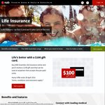 Take out a NAB Essential Life Insurance Policy, Get a $100 Visa Gift Card (Min 40 Days @ $40)