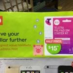 Telstra $30 Prepaid Starter Kit $15 @ Australia Post