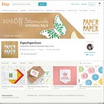 35% off Storewide on All Handmade Paper Goods @ PaperPaperStore (Birthday Cards, Baby Shower Invites, Thank You Cards etc)