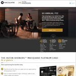 Macquarie Platinum Visa Credit Card - $0 Annual Fee for Life and Hilton Honors Gold Status