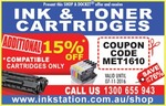 Ink Station 15% off Compatible Ink/Toner (Shop-a-Docket)