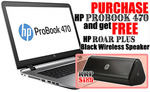 HP Probook 470 G3 Laptop + HP Roar Speaker - $899 Cash + Delivery (Vic Pickup) @ Landmark Computers