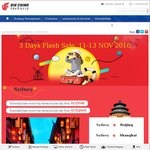 Air China 3 Day Sale, Mel/Syd to Beijing, Shanghai, etc, from $508 Ret Inc Tax