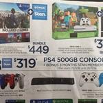 Xbox One S 500GB Minecraft Name Your Game Bundle $359, PS4 1TB Watch Dogs 2 Bundle $449, PS4 500GB $319 @ BIG W (Starts 24/11)
