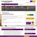 Bonus $16 Cashback for New Telechoice Customers @ Cashrewards
