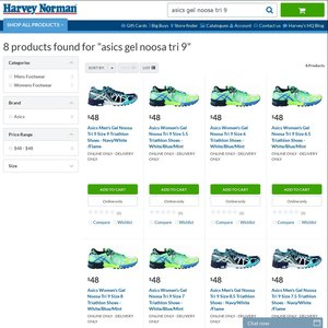 ASICS Gel Noosa Tri 9 Shoes @ Harvey Norman $48 with $10+