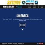 Tandem Skydive $199 - Hunter Valley NSW