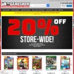 The Gamesmen 20% off in Stock Items (Excludes Consoles)