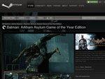 Batman: Arkham Asylum on Steam 66% off - $13.60USD