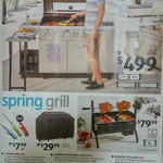 Coolabah 6 Burner BBQ $499, Mini Spit Roaster $79.99, Cover $29.99, Pizza Oven $199, 2 Burner $249, Gas Gauge $20 @ ALDI 30/9