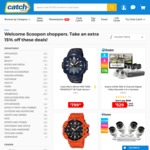 Extra 15% off Selected Products for Scoopon Members @ Catch