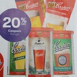 20% off Coopers Home Brew Range @ Big W (Starts Thurs 12th October)