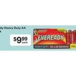 Eveready Heavy Duty AA Batteries Pack of 50 - $9.99 Australia Post