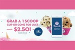 1 Scoop of Ice-Cream - Cup or Cone - $2.50 (Save $2.50) @ Baskin Robbin's Via Scoopon