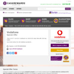 $15 Cashback on Vodafone Prepaid 10GB $25 Mobile Data SIM (180 Day Expiry) @ Cashrewards