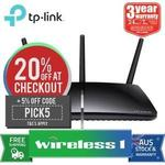 TP-Link Archer D7 Wireless AC1750 Dual Band ADSL2+ Gigabit Modem Router $70.87 @ Wireless1 eBay Delivered