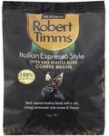 Robert Timms Italian Espresso Style Coffee Beans $10.29/1KG (Save $12.36) @ Coles