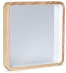 Free Shipping Sitewide @ Myer Market - Natural Wood Square Mirror by Oak and Ash 25cm $14 Delivered (Was $54.95)