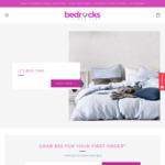 $50 off $100 Spend on First Order @ Bedrocks Bed Linen