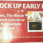 20% off Catch.com.au Gift Cards (Also Best Pets, Movie Card, Best Restaurants) @ Coles