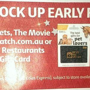 20 Off Catch Com Au Gift Cards Also Best Pets Movie Card Best Restaurants Coles Ozbargain