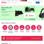 $15 off (No Minimum Spend) @ eBay