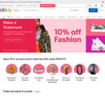 10% off Selected Categories Including Vehicle Parts (Min Purchase £20 (~A $35.36), Max Discount £50 (~A $88.40) ) @ eBay UK