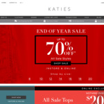 Katies - $20 Voucher. Min Spend $20. Free C&C. Members Only (Free Sign up)