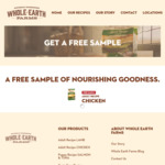 Free 200g Sample of Adult Chicken Recipe Dog Food from Whole Earth Farms / Nestlé [Delivered] [First 1,000]