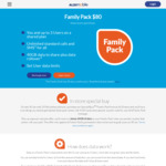 ALDI mobile Family Pk $80 (30 Day Expiry) 4 Users with 40GB Shared Data, Unlimited Calls and SMS + 40GB Bonus Data (In Store)