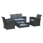 ASTI 4 Seater Outdoor Lounge (4 Colours Available) $297.41 (Was $349.90) + Free Shipping to SYD/MEL/BRIS @ Alice's Garden