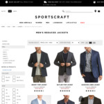 100% Cotton/100% Linen/70% Linen & 30% Wool/40% Wool Suit Jacket $49 (Was $369.99) 5 Choices (+ Shipping or C & C) @ Sportscraft