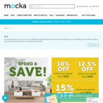 Spend & Save (10% off if You Spend $200+, 12.5% off if You Spend $400+, 15% off if You Spend $600+) @ Mocka